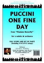 Puccini G: One Fine Day Score