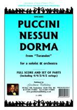 Puccini G: Nessun Dorma Score