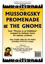 Mussorgsky M: Promenade & The Gnome (Carter) Sc