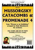 Mussorgsky M: Catacombs & Promenade 4 Score