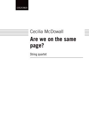 McDowall C: Are We On The Same Page?