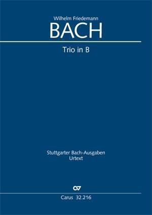 Bach W.F: Trio in B flat major (Sc/Pts)