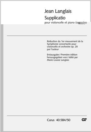 Langlais: Supplicatio Op.20, No.1