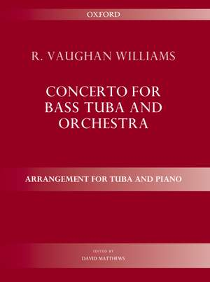 Vaughan Williams, Ralph: Concerto for bass tuba and orchestra Product Image