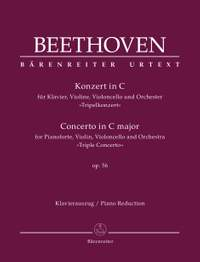 "Beethoven, L: Concerto for Pianoforte, Violin, Violoncello and Orchestra C major op. 56 ""Triple Concerto"" (Urtext)"