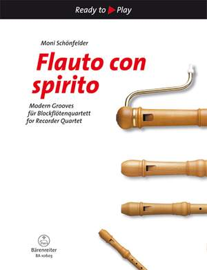 Flauto con spirito: Modern Grooves for Recorder Quartet Product Image