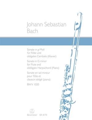 Bach, JS: Sonata for Flute and obbligato harpsichord (piano) G minor BWV 1020
