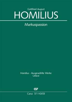 Homilius: Markuspassion (Vocal Score)
