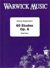 Kopprasch: 60 Etudes Op 6 (Cor Basse)