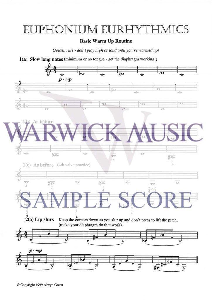 Green: Euphonium Eurhythmics (treble clef)