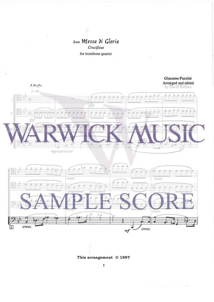 Puccini: Crucifixus from Messa di Gloria