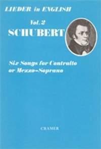 Schubert: Six Songs For Contralto Or Mezzo Sop. Le.02