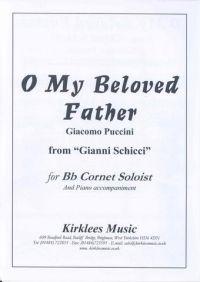 O My Beloved Father Puccini Solo Cornet & Piano