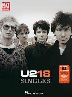 U2: 18 Singles Easy Guitar