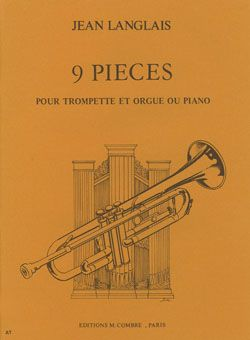 Langlais, Jean: 9 Pieces (trumpet and piano)