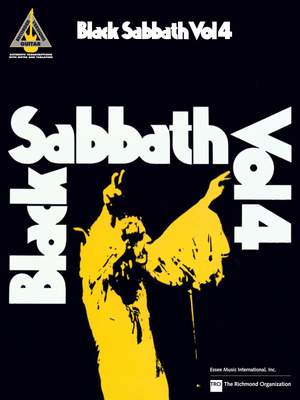 Black Sabbath Volume 4: Guitar Recorded Version