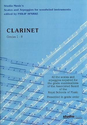 Sparke: Scales and Arpeggios for Clarinet