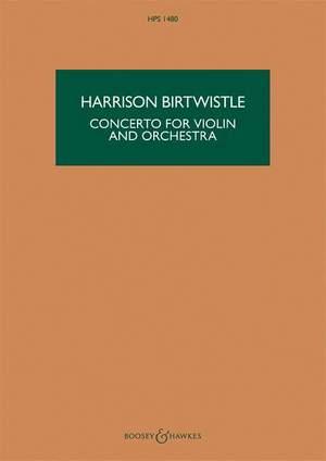 Birtwistle, H: Concerto for Violin and Orchestra