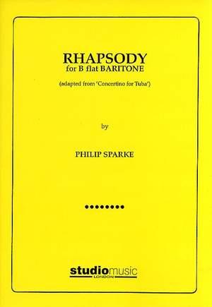 Philip Sparke: Rhapsody for Bb Baritone (treble/bass clefs and piano)