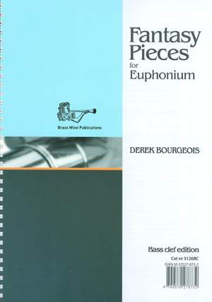 Derek Bourgeois: Fantasy Pieces for Euphonium (bass clef edition)