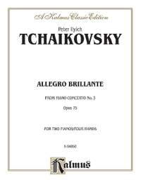 Pyotr Ilyich Tchaikovsky: Piano Concerto No. 3, Op. 75, (1st movement only) (Allegro Brillante)