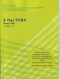 Sparke: Scales and Arpeggios for E flat Tuba (Bass Clef)