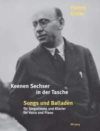 Eisler: Keenen Sechser in der Tasche. Songs und Balladen