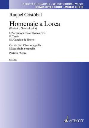 Cristóbal, R: Homenaje a Lorca