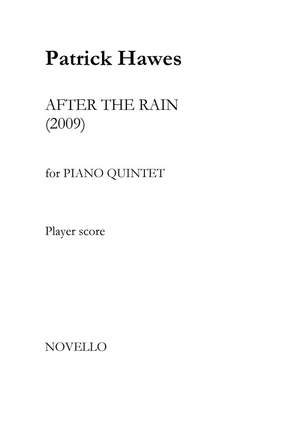 Patrick Hawes: After The Rain - Piano Quintet Product Image