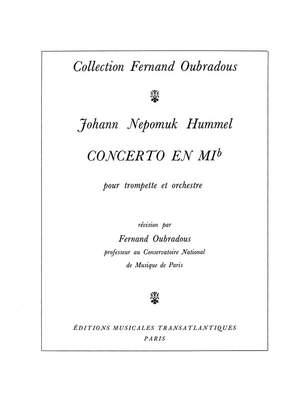 Johann Nepomuk Hummel: Concerto En Mib