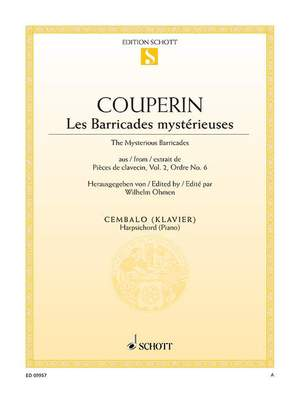 Couperin, F: Les Barricades Mystérieuses