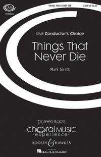Sirett, M: Things That Never Die