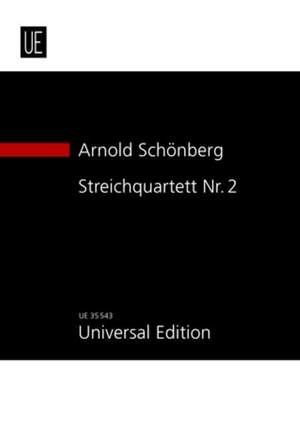 Schoenberg, A: String Quartett Nr. 2 op. 10