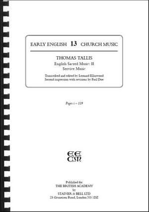 Tallis, Thomas: English Sacred Music II: Service Music