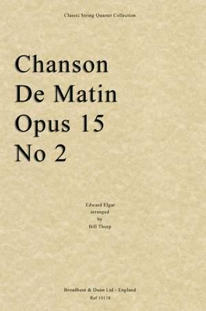 Elgar, Edward: Chanson De Matin, Opus 15 No. 2
