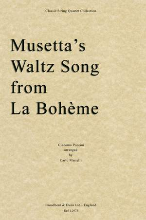 Puccini, Giacomo: Musetta's Waltz Song from La Bohème