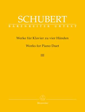 Schubert, Franz: Works for Piano Duet, Volume 3