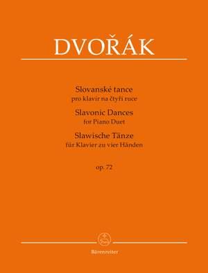 Dvorák, A: Slavonic Dances for Piano Duet op. 72