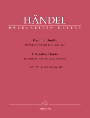Handel, Georg Friedrich: Chamber Duets for Soprano, Alto and Basso continuo