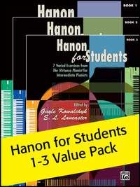 Hanon for Students Books 1-3 Value Pack 2012