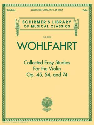 Franz Wohlfahrt: Collected Easy Studies For The Violin