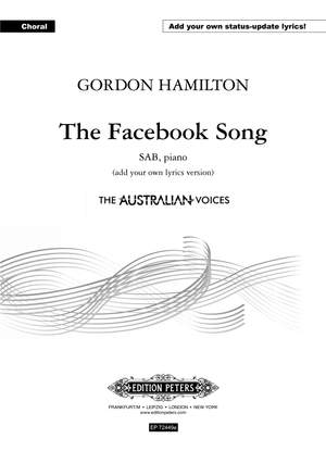 The Facebook Song (SAB/PF) (Add Your Own Lyrics Version)