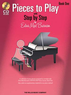 Edna-Mae Burnam: Pieces to Play - Book 1 with CD