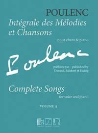 Poulenc, Francis: Intégrale des Mélodies et Chansons Volume 4