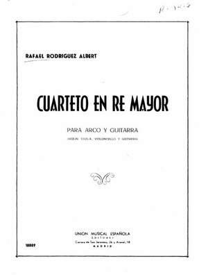 Rafael R. Albert: Cuarteto En Re Mayor
