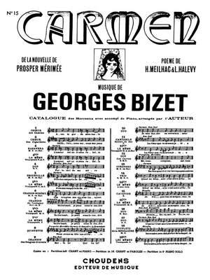 Georges Bizet: Carmen- Air No.15 Je Dis Que Rien Ne M'Epouvante