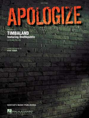 Ryan Tedder: Apologize
