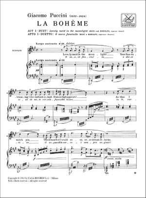 Puccini: O Soave Fanciulla