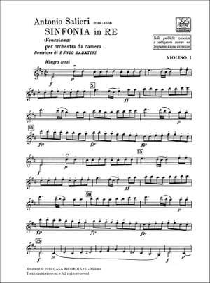 Salieri: Sinfonia in D 'Veneziana'