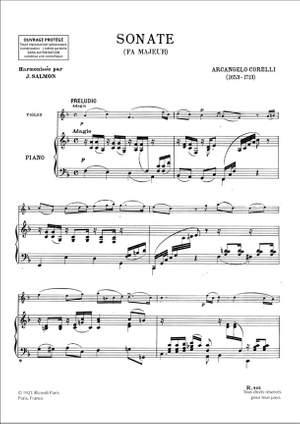 Corelli: Sonata in F major